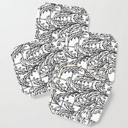 A Mediterranean Floral Coaster