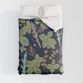 dark herbs pattern Comforters
