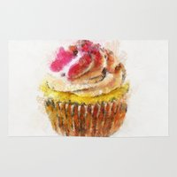 cupcake Area & Throw Rugs featuring Cupcake by Manuela Mishkova