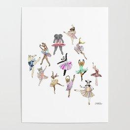 Animal Ballerinas Poster