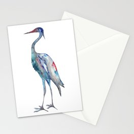 Crane #1 - Ink painting Stationery Cards
