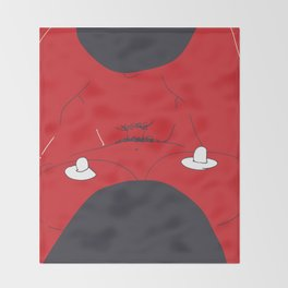 Red Sex Throw Blanket