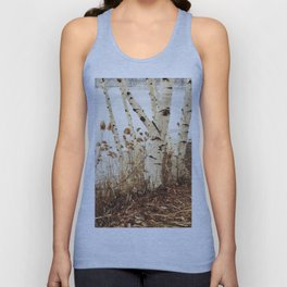 Autumn Birches by the Lake Unisex Tank Top