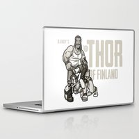 finland Laptop & iPad Skins featuring Thor of Finland by Randy Meeks