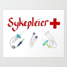 Sykepleier Art Print