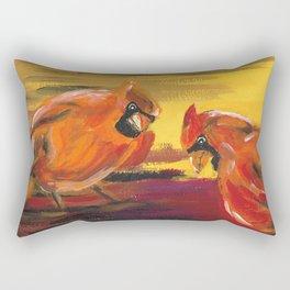 Seek and Ye Shall Find (Cardinals) Rectangular Pillow