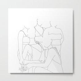 Girlfriends illustration - Flo Metal Print