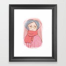 Girl with scarf Framed Art Print