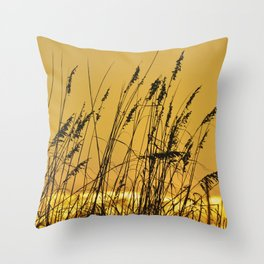 St. Augustine Sea Oats Throw Pillow