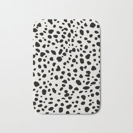 Polka Dots Dalmatian Spots Bath Mat