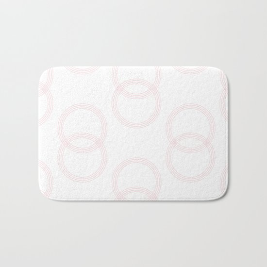 Simply Infinity Link in Flamingo Pink on White Bath Mat