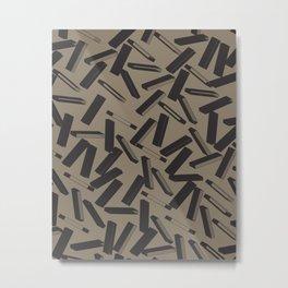 3D X Pattern Metal Print