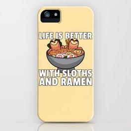 Sloth Noodle Ramen Noodle Soup iPhone Case