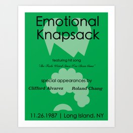 Emotional Knapsack - Friends Art Print