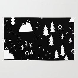 Woods in Black Rug