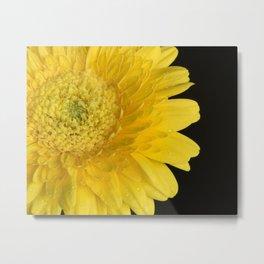 Bright Yellow Metal Print