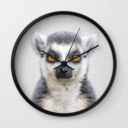 Lemur 2 - Colorful Wall Clock