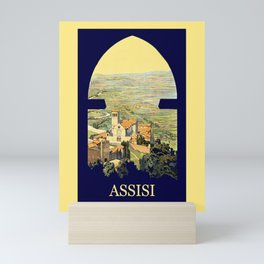 Vintage Litho Travel ad Assisi Italy Mini Art Print