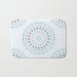 Teal Aqua Mandala Bath Mat
