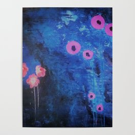 Downright Blue. From my Original Painting by Jodilynpaintings. Blue, Abstract Poster