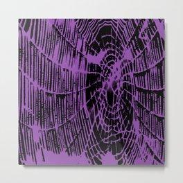Intricate Halloween Spider Web Purple Palette Metal Print