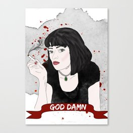 Pulp Fiction's Mia Wallace Canvas Print