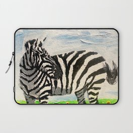 Stripes and Sunflowers Laptop Sleeve