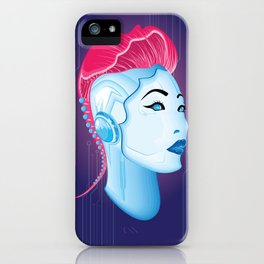 Cyber chick 001 iPhone Case