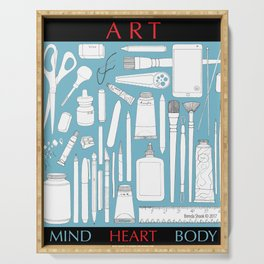Art Mind Heart Body (blue, black, red) Serving Tray
