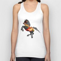 pony Tank Tops featuring Grey Pony by Moonlake Designs