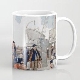 Vintage Immigrants & Statue of Liberty Illustration (1917) Coffee Mug