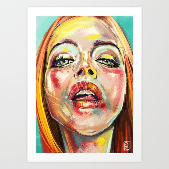 Summer Glowing Art Print