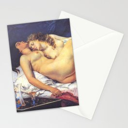 The Sleepers - Gustave Courbet Stationery Cards