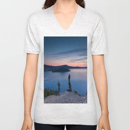 Sunrise At Crater Lake Unisex V-Neck