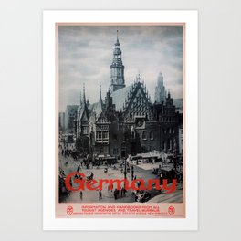 old poster Germany Art Print