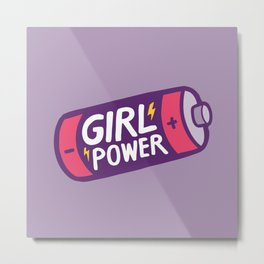 Girl Power Metal Print