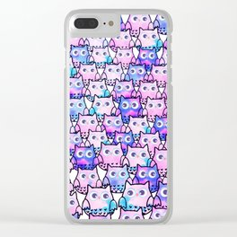 owl-116 Clear iPhone Case