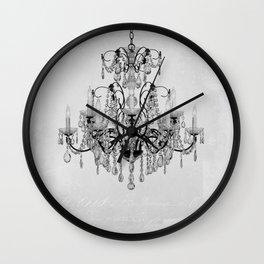belle époque chandelier Wall Clock