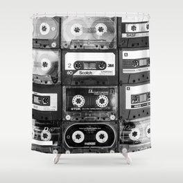 Something Nostalgic - black and white #decor #buyart #society6 Shower Curtain