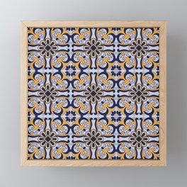 Portuguese tile Framed Mini Art Print