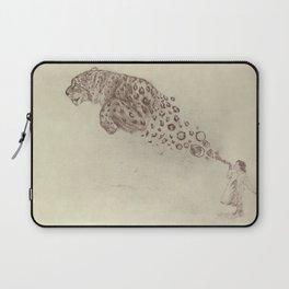 Bubbles the Snow Leopard Laptop Sleeve