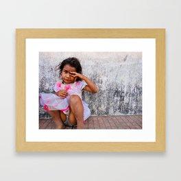 Don't Cry Framed Art Print