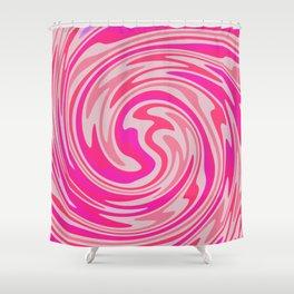 Candy Floss Swirl Shower Curtain