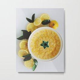 Lemon cut Metal Print
