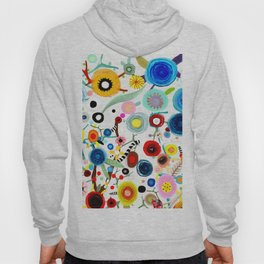 Rupydetequila whimsical floral art 2018 Hoody