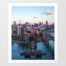 Sunset, Sydney Australia. Art Print