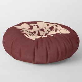 Abstraction in maroon and pink  Floor Pillow