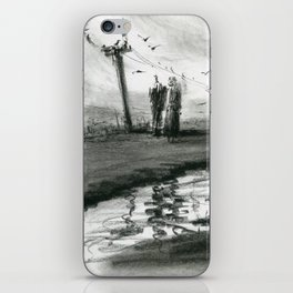 Ink and Carbon Pencil iPhone Skin
