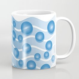 fresh blue water bubbles Coffee Mug