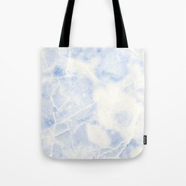Blue and White Marble Waves Tote Bag